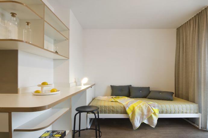 modern und gemütlich möbliertes 1-Zimmer Studio im STUDIO HOUSE BERLIN