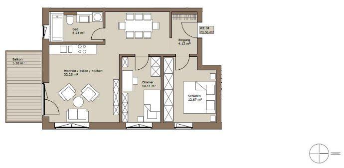 Modernes Wohnen auf dem Gelände