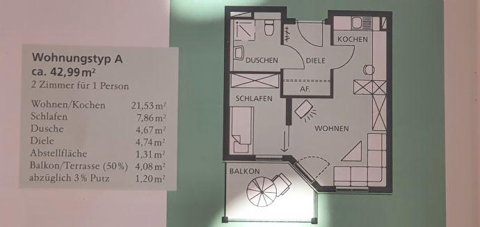 2-Zimmerwohnung in AWO Senioren-Residenz Neustadt