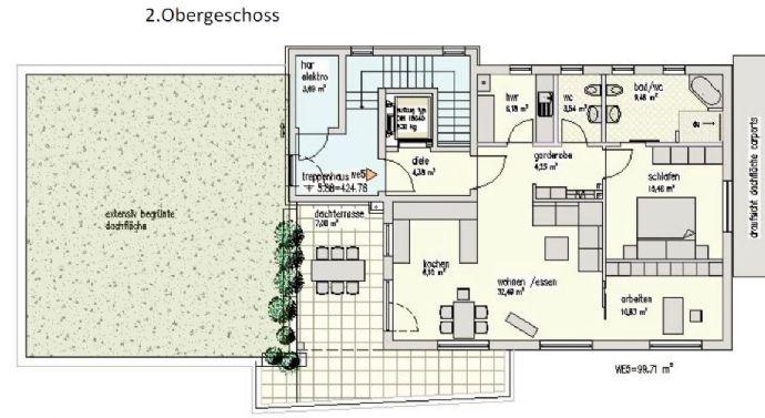 Komfort-ETW mit Dachterrasse an der Odeborn- Nähe Stadtpark Bad Berleburg