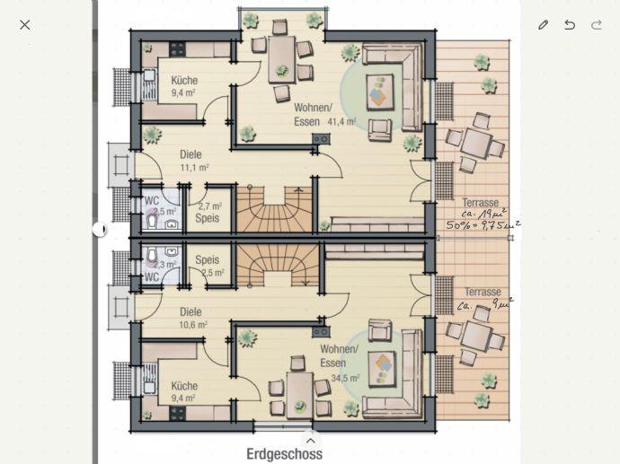 Großes Einfamilienhaus ( Doppelhaushälfte ) auf großem Grundstück in sehr guter Lage