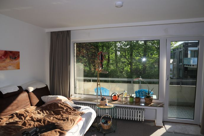 Gepflegtes 1-Raum-Apartment, Erdgeschoss mit Balkon, ruhige Lage, ideal für Studenten o. Azubis