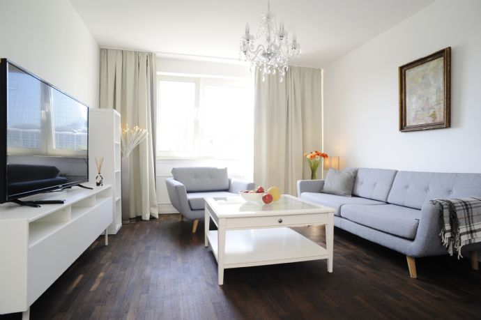 beautifully furnished 3-room-apartment vis-a-vis new ECB