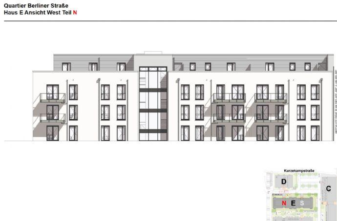 Neubau-Erstbezug: 3-Zimmer-Wohnung mit Balkon im Quartier Berliner Straße