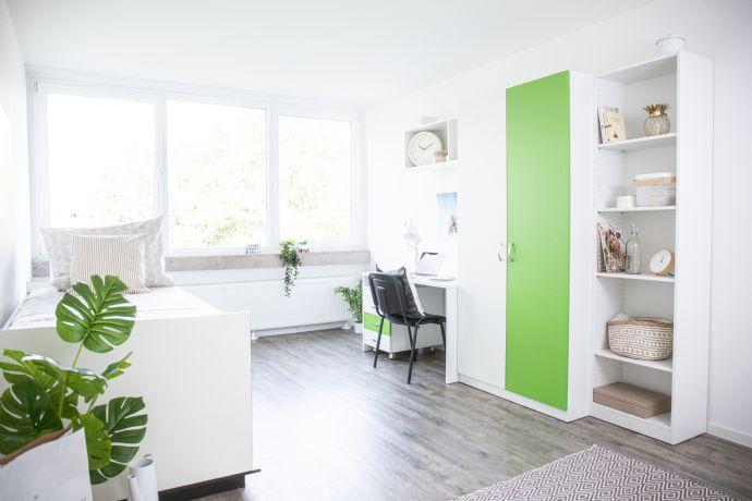 Möbliertes Apartment mit Balkon in ruhiger Gegend