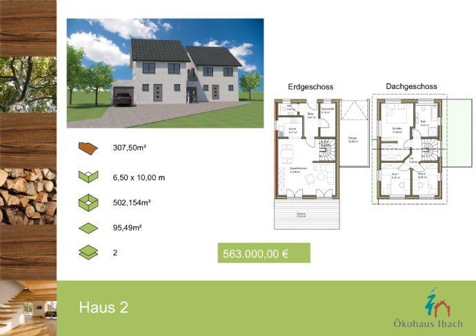 Ökohaus Ibach, Neubau eines Doppelhaus mit 95,49 m² Wohnfläche