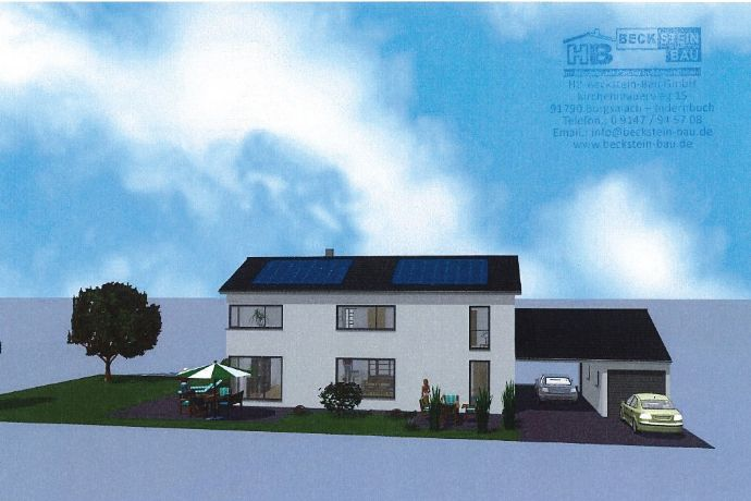**** Einfamilienhaus mit Keller und Garage inkl. Grundstück und Außenanlagen in Schambach bei Treuchtlingen