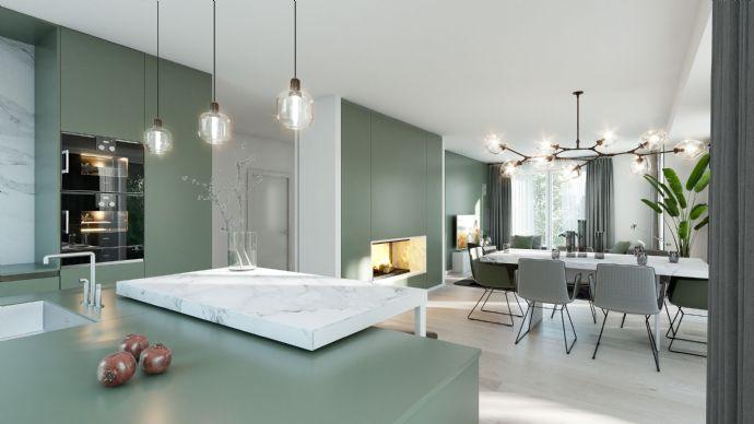 """Neubau """"Dirschauer Straße"""": Grün & Großzügig: Eleganz im Erdgeschoss! 3-Zi-Gartenwohnung mit Sonnenterrasse"""