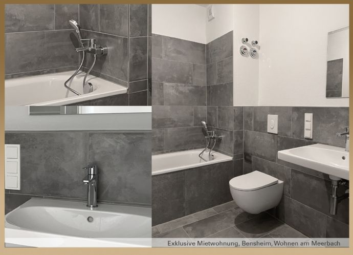 Erstbezug - Wohnen am Meerbach - Exklusive Wohnung mit 2 Balkonen und Einbauküche