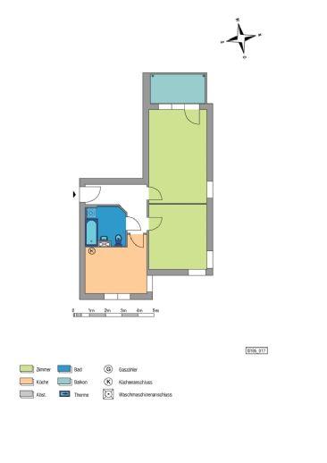 2-Zimmer Wohnung in Godshorn mit