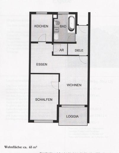 Vermietung 2-Zimmer-Gallerie (offen) Wohnung frei ab 01.09.2020