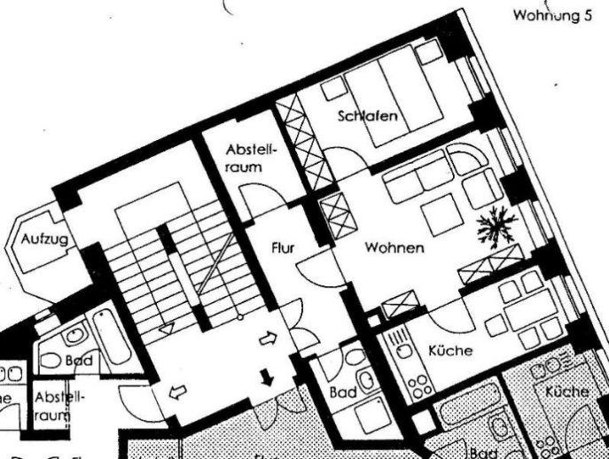 2- Zimmer- Wohnung mit Einbauküche in Dresden zu vermieten