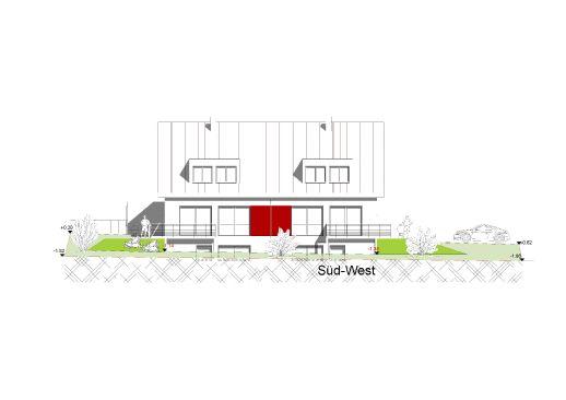 Moderne Neubau-Doppelhaushälfte mit Gartenanteil und Garage