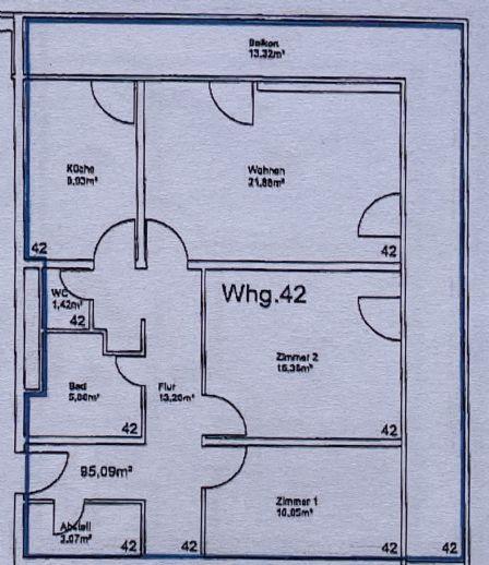 96 m², 3.5-Zimmer-Wohnung