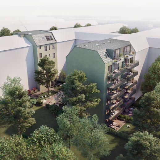 Kompakte 4-Zimmer Familienwohnung mit großem Südbalkon
