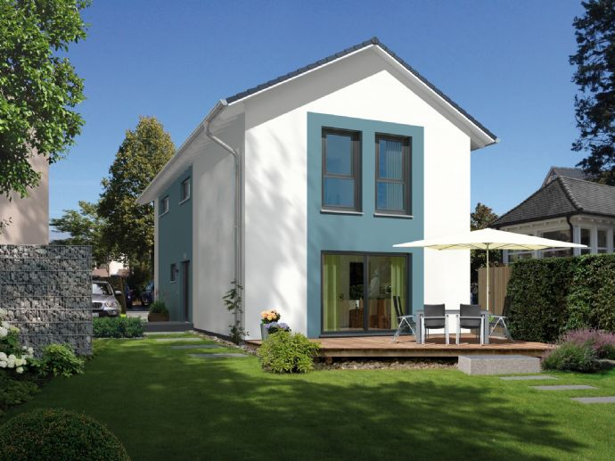 Grundstück sofort bebaubar mit tollem Einfamilienwohnhaus ohne Dachschrägen!