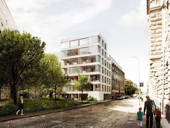 Lichtdurchflutete Dachgeschosswohnung in anspruchsvoller Architektur in Berlin Mitte