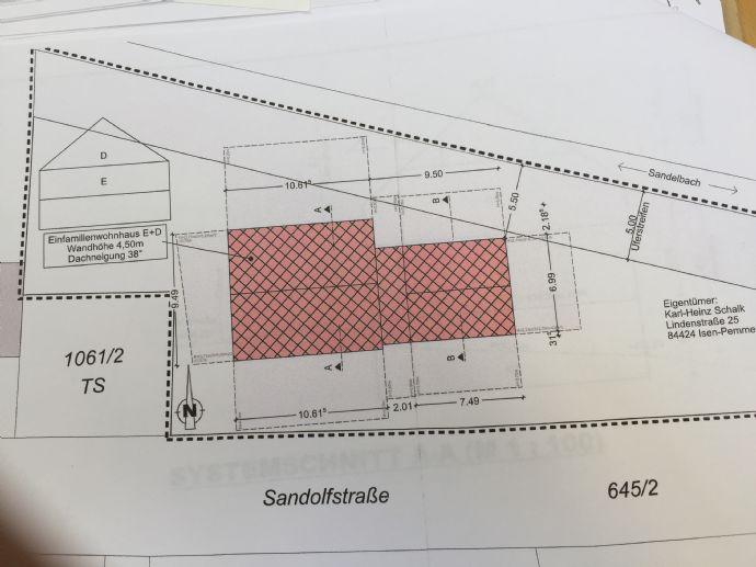 Wohnhausgrundstück und großer Garten in Sandelzhausen bei Mainburg mit genehmigten Bauvorbescheid (Einfam.Haus)