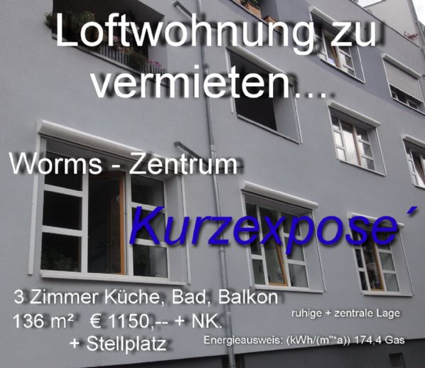 Worms- Zentrum Loftwohnung in ruhiger + Zentraler Lage