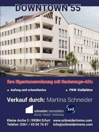 Steigerstr. komplett verkauft! Aktuelles Projekt - Erstbezug mit Sanierungs-AfA - downtown55 - ca. 30% verkauft - in der Brühlervorstadt