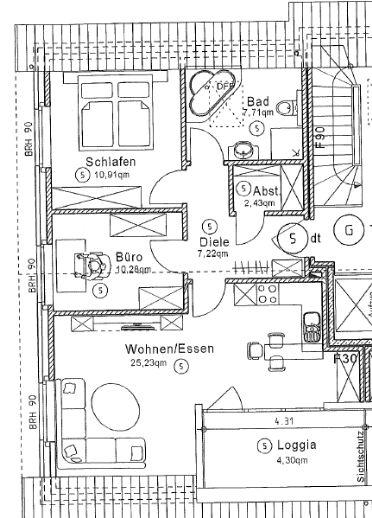 Moderne 3-Zimmerwohnung mit Balkon im Herzen von Gronau zu vermieten!