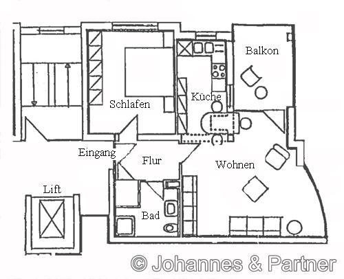 schöne 2 Zimmer-Wohnung mit Balkon in Loschwitz