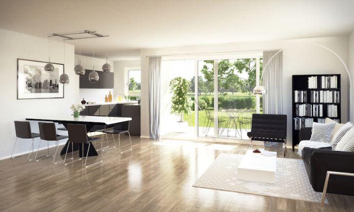 Moderne 3 - Zimmerwohnung mit Gartenanteil