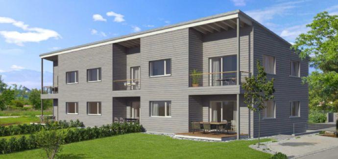 Wohngesundes Öko-Holzhaus. Geschmackvolle, helle 3 Zimmer Wohnung mit schöner Aussicht