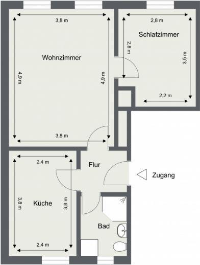 Komplettsanierte 2 Raum-Wohnung in der Lindenstraße